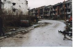 Abandoned Olympic village from the 1984 Winter Olympics in Sarajevo.