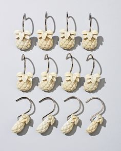 pineapple hooks set of 12
