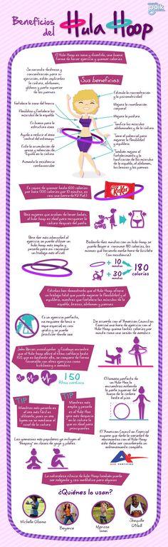 El Hula-Hoop, ya es considerado como uno de los ejercicios más completos y benéficos para la salud. #infografia #salud