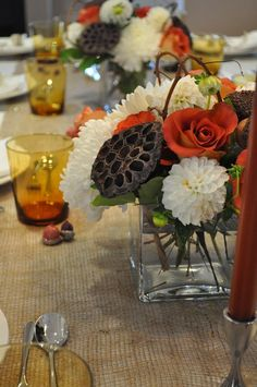 Like so many other bloggers, I seem to have developed a bit of a crush on burlap. It seems like such a great fit with rustic, cool, fall days. This year I decided to make a runner for my dinning ro...