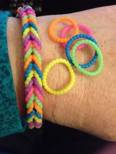 New bumpy loom bands I got at walmart.