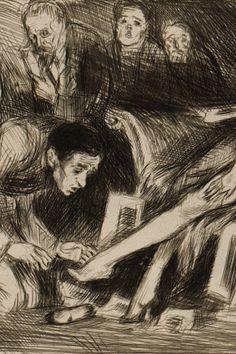 Undula with artists by Bruno Schulz, [ca 1920-1922]. Jagiellońska Biblioteka Cyfrowa, Public Domain