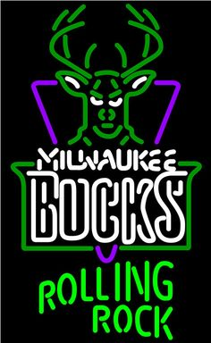 Rolling Rock Milwaukee Bucks NBA Neon Beer Sign, Rolling Rock with NBA Neon Signs | Beer with Sports Signs. Makes a great gift. High impact, eye catching, real glass tube neon sign. In stock. Ships in 5 days or less. Brand New Indoor Neon Sign. Neon Tube thickness is 9MM. All Neon Signs have 1 year warranty and 0% breakage guarantee.