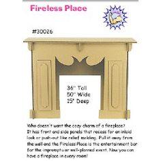 Cardboard fireplace