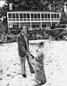 Author John Cheever and dogs Words For Writers, Writers And Poets, Writers Write, Famous Artists, Great Artists, John Cheever, Poetry Magazine, Big Animals, Man And Dog
