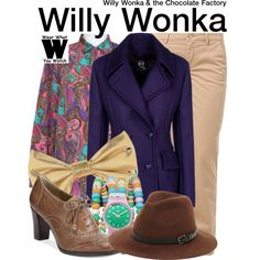 Inspired by Gene Wilder as Willy Wonka in 1971's Willy Wonka & the Chocolate Factory.