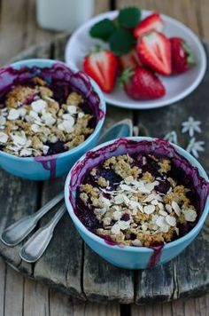 Blueberry Buckle Granola. Make this at night and bring it to work with you in the morning! #beachbody #beachbodyblog #vegan #vegetarian Track your fitness goals with an activity tracker or fitness wearable. Visit Track2Fit.com today!