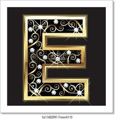 Free art print of E gold letter with swirly ornaments. Get up to 10 Gallery-Quality Art Prints for Free. Letter Symbols, Alphabet And Numbers, Alphabet Letters, Gold Letters, Monogram Letters, Coloring Letters, Business Web Design, Stylish Alphabets, Letter Ornaments