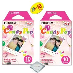 Fujifilm Instax Mini 8 Film For Fujifilm instax mini 8 camera 2PACK 20 Sheets Candy Pop ** Check this awesome product by going to the link at the image.