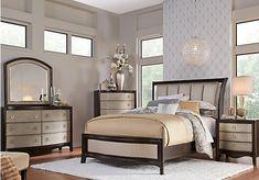 Dumont Queen Dark Cherry 6Pc Canopy Bedroom | Canopy, Canopy bedroom ...