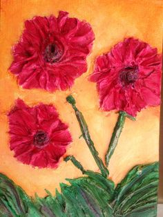 Bright Pink Tiny Flowers Painting 6x8 by RichNovelties on Etsy, $35.00