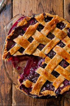 Simply the best blueberry pie! The filling's juicy but stable. The crust is buttery and flaky. Decorate however you'd like, but always serve with ice cream! sallysbakingaddiction.com