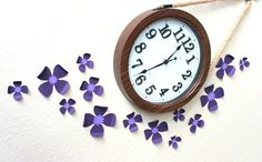 Purple room decor  flower wall stickers  3d by MyDreamDecors