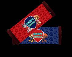 Paw Patrol Chocolate Bar Wrappers Party Printable Hershey Candy Bars, Chocolate Bar Wrappers, Paw Patrol, Party Printables, Vibrant Colors, Happy Birthday, Happy Aniversary, Happy Brithday, Bright Color Schemes