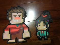 Perler bead Wreck-it Ralph Vanellope ~ by ~OtakuLuka on deviantART