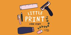 Little Print Display Font is a unique rustic font created by Amy Cox. Latest Fonts, Cool Fonts, Awesome Fonts, Brand Identity, Free Design, Letters, Display, Graphic Design, Prints