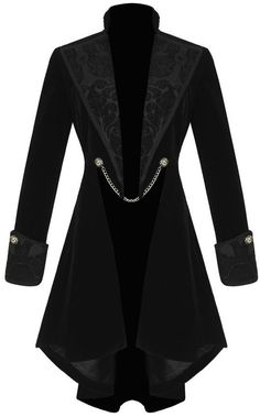 Pentagramme Womens Gothic Jacket Coat Black Velvet Steampunk VTG Tailcoat in Clothes, Shoes & Accessories, Women's Clothing, Coats & Jackets Viktorianischer Steampunk, Steampunk Fashion, Victorian Fashion, Gothic Fashion, Steampunk Necklace, Steampunk Clothing, Victorian Gothic, Dark Fashion, Gothic Lolita