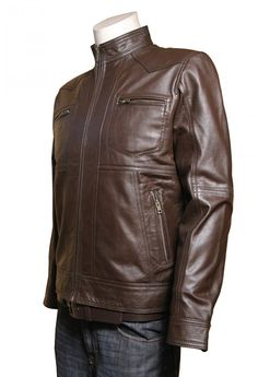 Adorable Men' fashion Casual BROWN BOMBER DESIGNER LEATHER JACKET . Get this stuff from www.leatherobe.com
