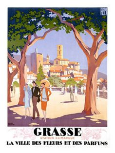 Vintage Travel Poster - South of France - Grasse
