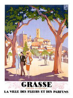 Vintage Travel Poster - South of France - Grasse