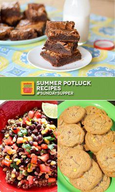 Summer's Best Potluck Recipes #SundaySupper
