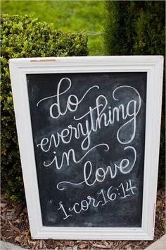 chalkboard wedding sign @weddingchicks