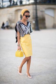 Pencil skirt, turban