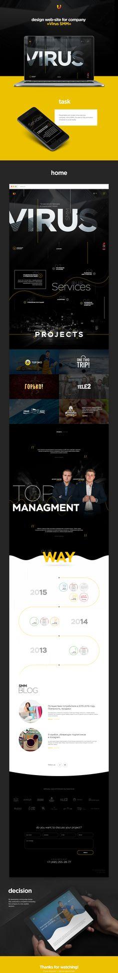 Design web-site for company «Virus SMM