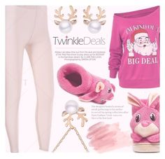"""""""Pinky Christmas With Twinkledeals"""" by fattie-zara ❤ liked on Polyvore featuring Kershaw"""