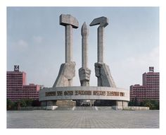 Monumento a la fundación del Partido de los Trabajadores de Corea, Pyongyang.