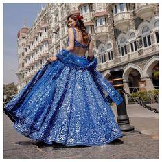 Dress Indian Style, Indian Fashion Dresses, Indian Designer Outfits, Blue Lehenga, Indian Lehenga, Designer Bridal Lehenga, Wedding Lehenga Designs, Bridal Lehenga Collection, Lehnga Dress
