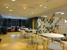 Coalesse Enea Lottus Collection creates the perfect office cafe setting.