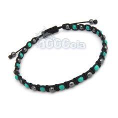 Bracelet homme/men's style shamballa pierre naturelle véritable turquoise 4mm + hématite + fil nylon noir Men's Jewelry, Nylons, Bracelets, Turquoise Bracelet, Zen, Etsy, France, Boutique, Style
