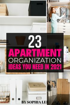 Wow these ideas have me contemplating organizing my entire apartment right now. When all my amazon orders come in with all the things Sophia shared I will be the most organized person ever. First Apartment Checklist, First Apartment Essentials, Apartment Hacks, Bedroom Apartment, Home Bedroom, Apartment Living, Small Space Organization, Home Organization, Organizing