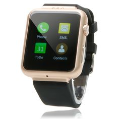 Bluetooth Pedometer Smart Watch Phone K8 Wi-Fi for Android SIM Card Champagne #UnbrandedGeneric