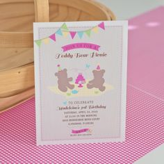 Free Printable Teddy Bear Birthday Party Invitation Teddy bear