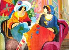 Isaac MAIMON 2 Women in a Cafe, artwork on the Marketplace - Artprice.com