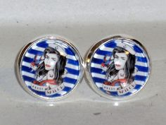 Ohrstecker Maritim Ohrringe Glas Legierung ohne Stein Ohrschmuck Modeschmuck