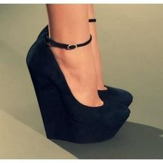 Black heels- have similar shoes but no ankle strap and they are peep-toe..... they are my favorite!