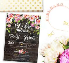 Bridal Shower Invitation Printable  Mason Jar Bridal by AlniPrints
