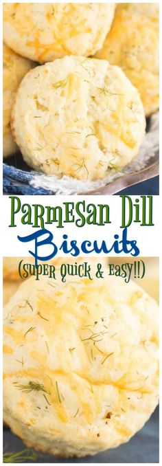 The quickest and easiest biscuits in the universe, these Parmesan Dill Biscuits are only a few ingredients, and are moist, fluffy, and have perfect flakiness. Parmesan and dill add extraordinary flavor