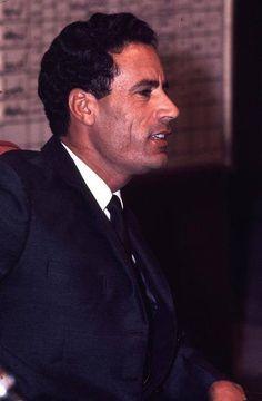Young, beautiful profile Gaddafi