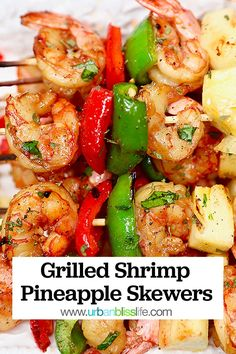 Shrimp Marinade, Grilled Shrimp Skewers, Grilling Recipes, Seafood Recipes, Cooking Recipes, Kabob Recipes, Barbecue Recipes, Healthy Foods To Eat, Barbecue