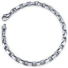 Chic Creation: Unisex Stainless Steel Box Link Bracelet Peora. $14.99