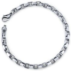 Chic Creation: Unisex Stainless Steel Box Link Bracelet Peora. Save 75 Off!. $14.99