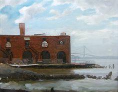 Red Hook, Brooklyn with Verrazano Bridge