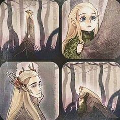 Thranduil and Legolas<=OmG its thranduil probably missing mrs Thranduil and little Leggy come to comfort him!! :'( :')