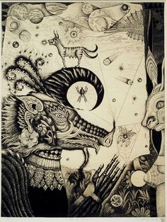 Mitsuru Nagashima 銅版画・Metamorphosis No.23 Mr.Wild Boar