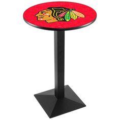"Chicago Blackhawks 42"" Square Base Pub Table - $329.99"