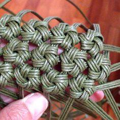 エコクラフト、石畳編み,作り方 - Hľadať Googlom